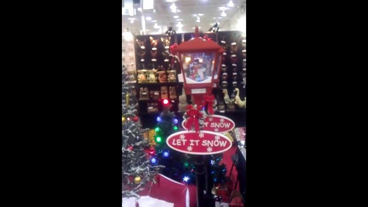 Snowing christmas decoration let it snow - Frosty The Snowman Lighted And Musical Lamppost