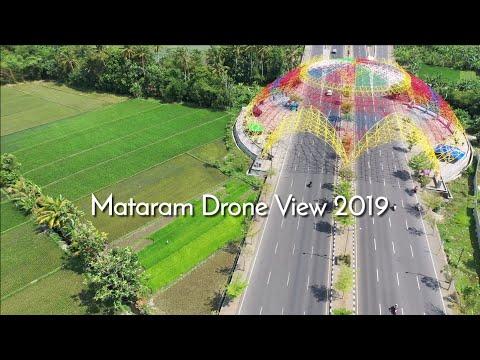 Mataram City, Lombok Drone View 2019