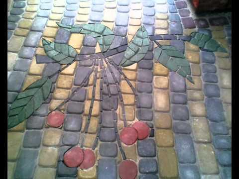 Ландшафтный дизайн, укладка тротуарной плитки