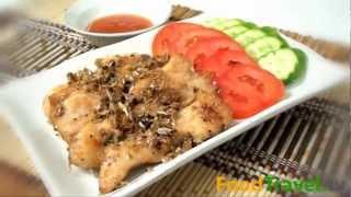 [thai Food] Fried Chicken With Garlic And Black Pepper (gai Tod Kra Tiem Prik Thai Dum)