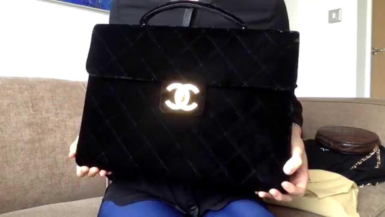 d9bac10ff8d2 Vintage Chanel Velvet Briefcase Bag la bonita03 - YouTube
