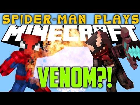 Spider-Man Play's Minecraft - VENOM?!!?