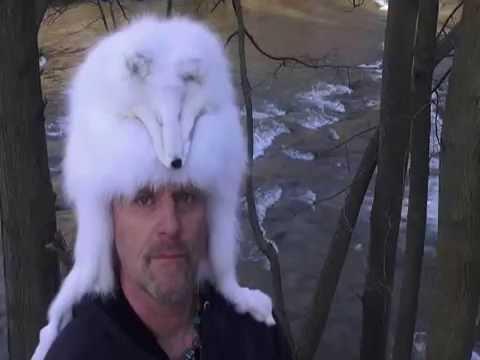 96695dc1150 Arctic fox fur hat   taxidermy hats pelt mens black powder red beaver