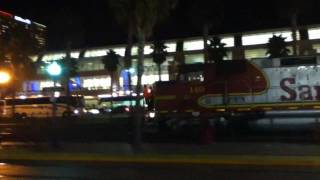 BNSF Locomotives & San Diego Trolley Action Downtown