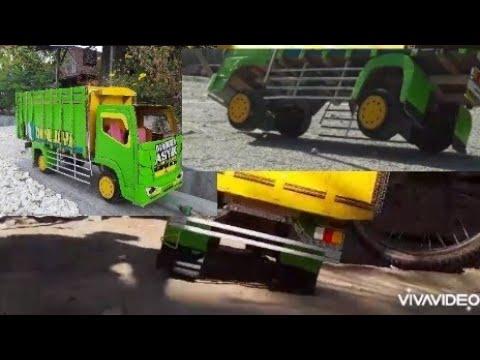 Miniatur truk madura asyik oleng parah saat kosongan