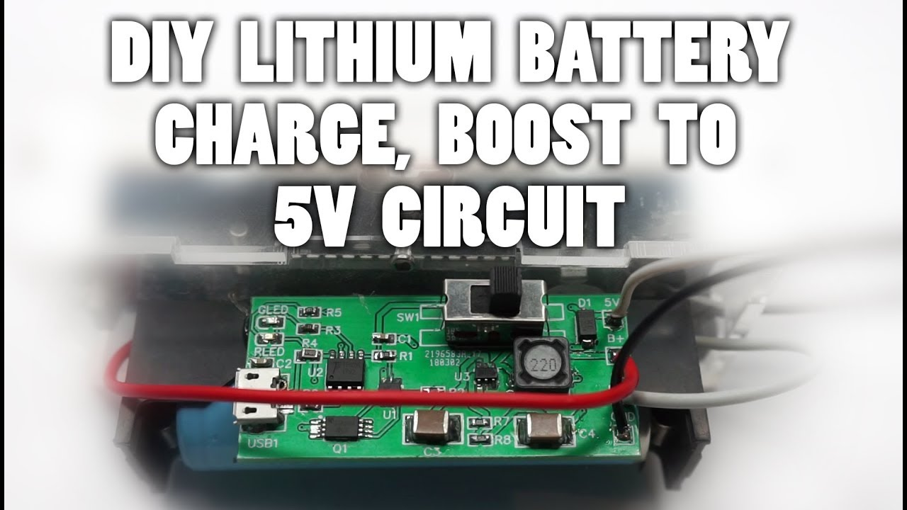 Diy 18650 Lithium Battery Charge Protect Boost To 5v Circuit Youtube Module Charging Boardin Integrated Circuits