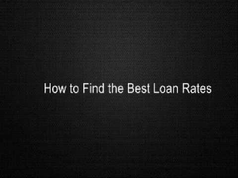 how-to-find-the-best-loan-rates