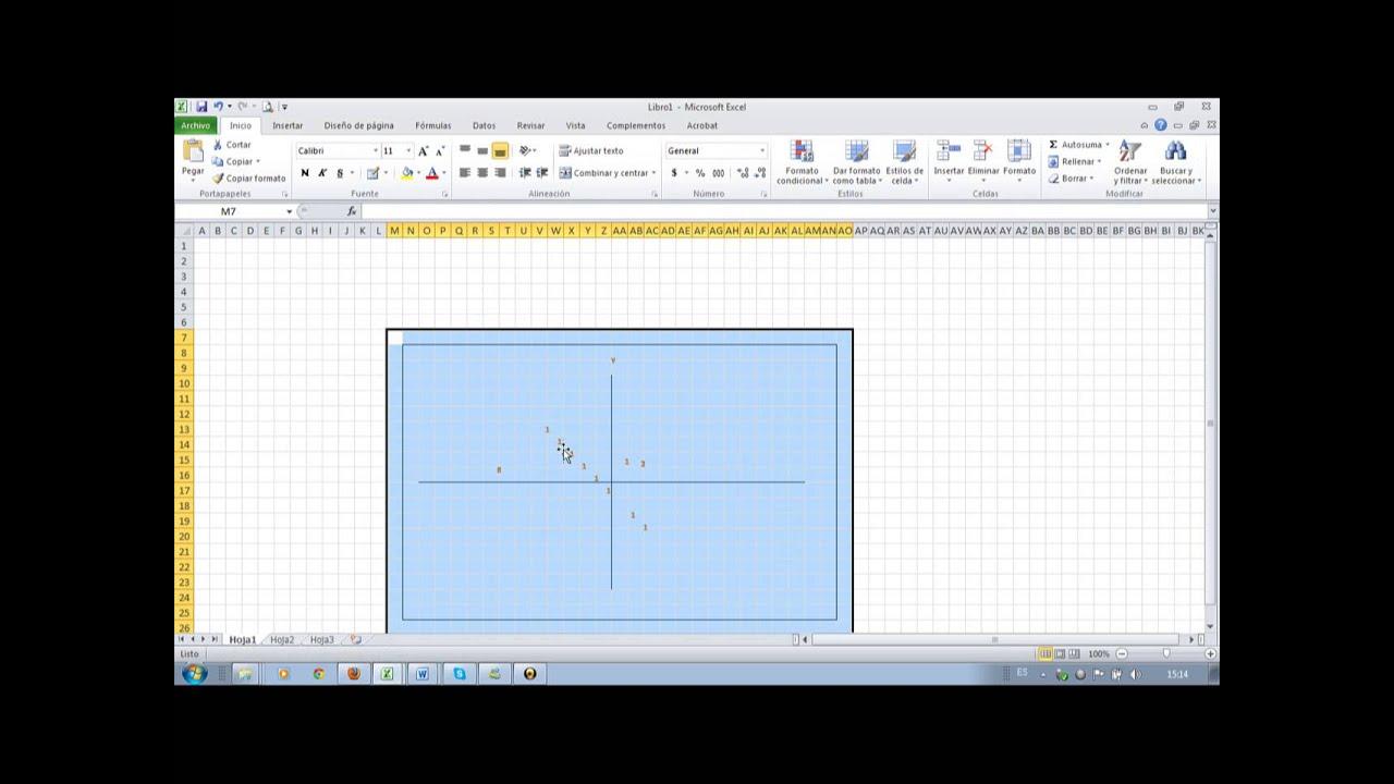 Como graficar un plano cartesiano en microsoft exel y for Como crear un plano
