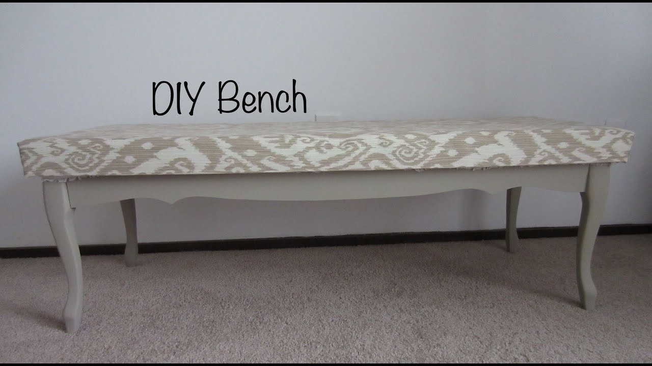 Transforming a coffee table into a bench