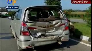 Adilabad Jt Collector Narrowly Escapes | in a Road Accident in Nizamabad