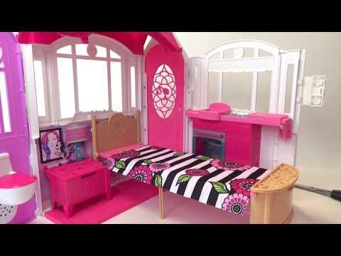 Открываем огромный игрушечный дом для кукл