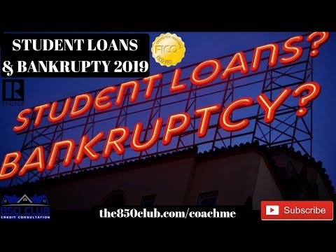 Private Student Loans Discharged In Bankruptcy In 2019?