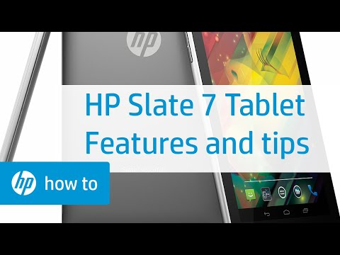 HP Slate 7 Tablet - Features and Tips