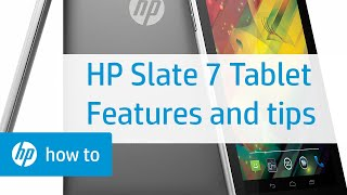 HP Slate 7 Tablet - Features and Tips | HP Tablets