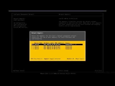 VMware ESXi & vSphere 5.1 Admininstration Training : Configuring ESXi With DCUI Interface