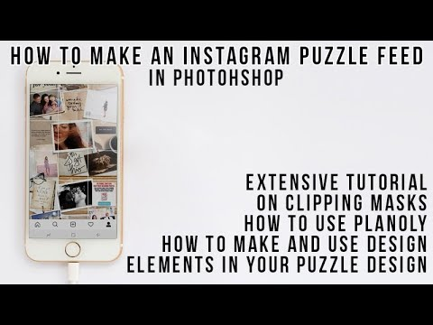 How to Make a Puzzle Feed for Instagram Photoshop Tutorial and Much More