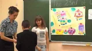 Открытый урок английского языка для детей