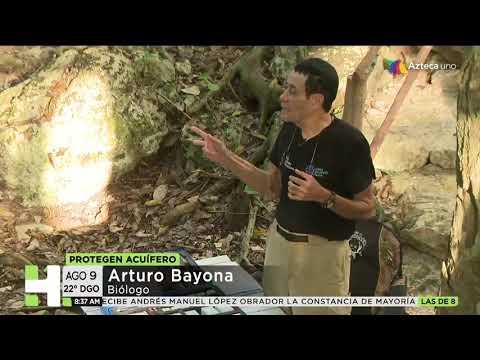 Reportaje Gran Acuífero Maya segunda parte Azteca Noticias.