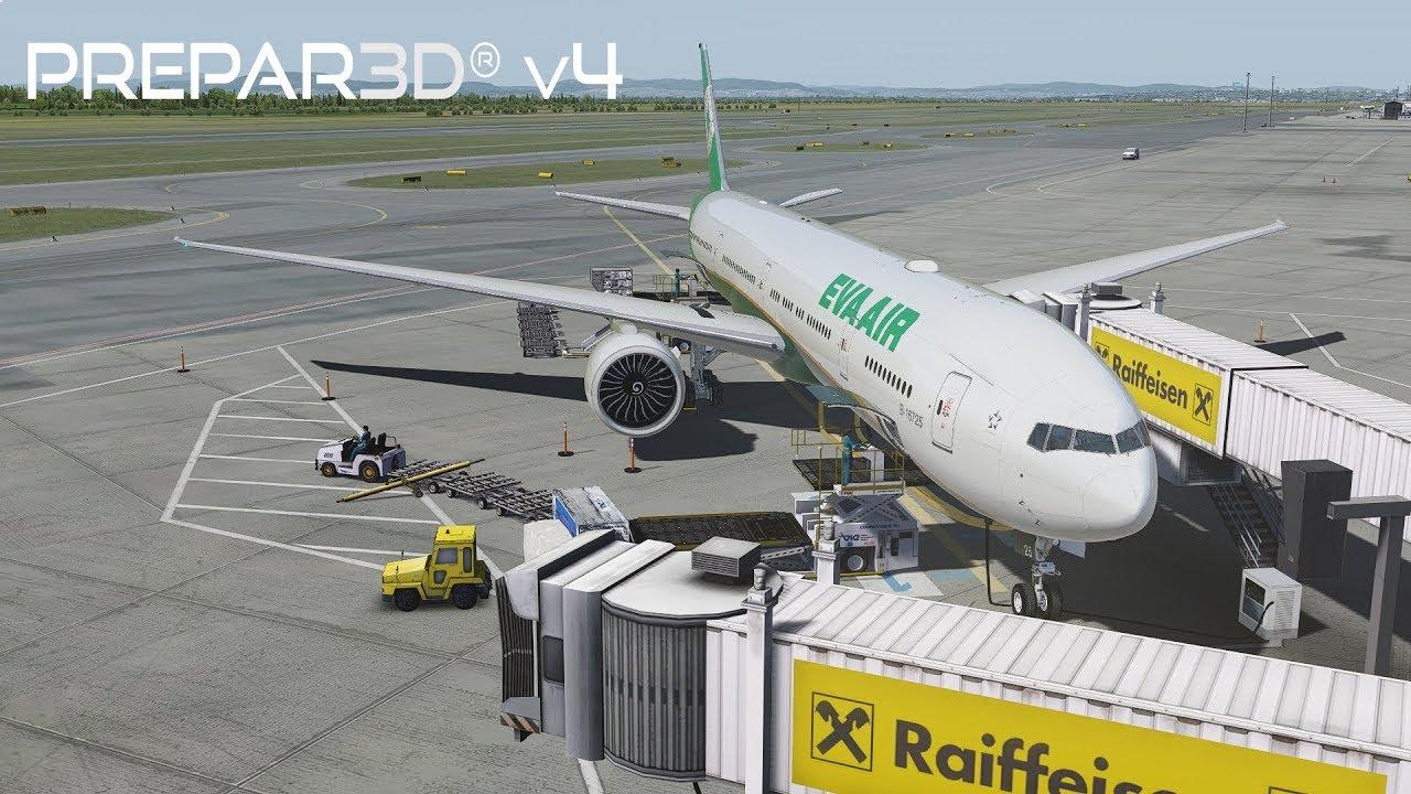 Prepar3D v4 3 | Vienna to Taipei | LOWW-RCTP | PMDG 777