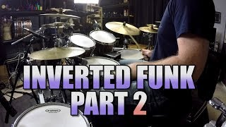 Drum Lessons - Inverted Paradiddle Funk Beat - Part 2