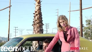 Behind the scenes with Ashley Benson on the set of her Teen Vogue shoot