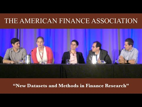 New Datasets And Methods In Finance Research