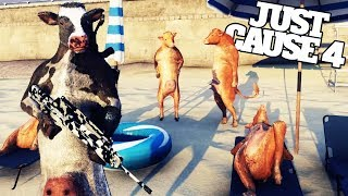 Turning All Of Humanity Into Mutant Cows in Just Cause 4