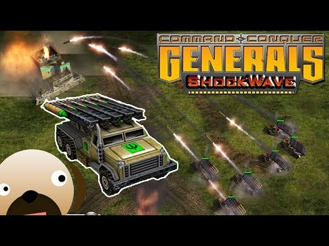GLA KATYUSHA ASSAULT -  SHOCKWAVE MOD  Command and Conquer Generals Zero Hour