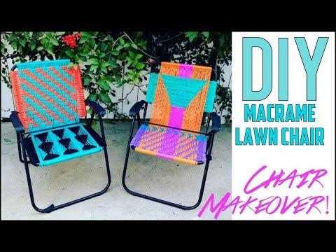 DIY: Macrame Lawn Chair- SICK MAKEVOER!! - by Orly Shani