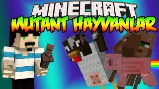 Minecraft : Eğlenceli Mod Tanıtımı : MUTANT HAYVANLAR MODU - Şişman Tavuklar,Köylü Domuz & Fazlası !