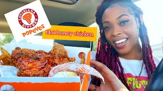 POPEYES NEW HOT HONEY CHICKEN | Food Review