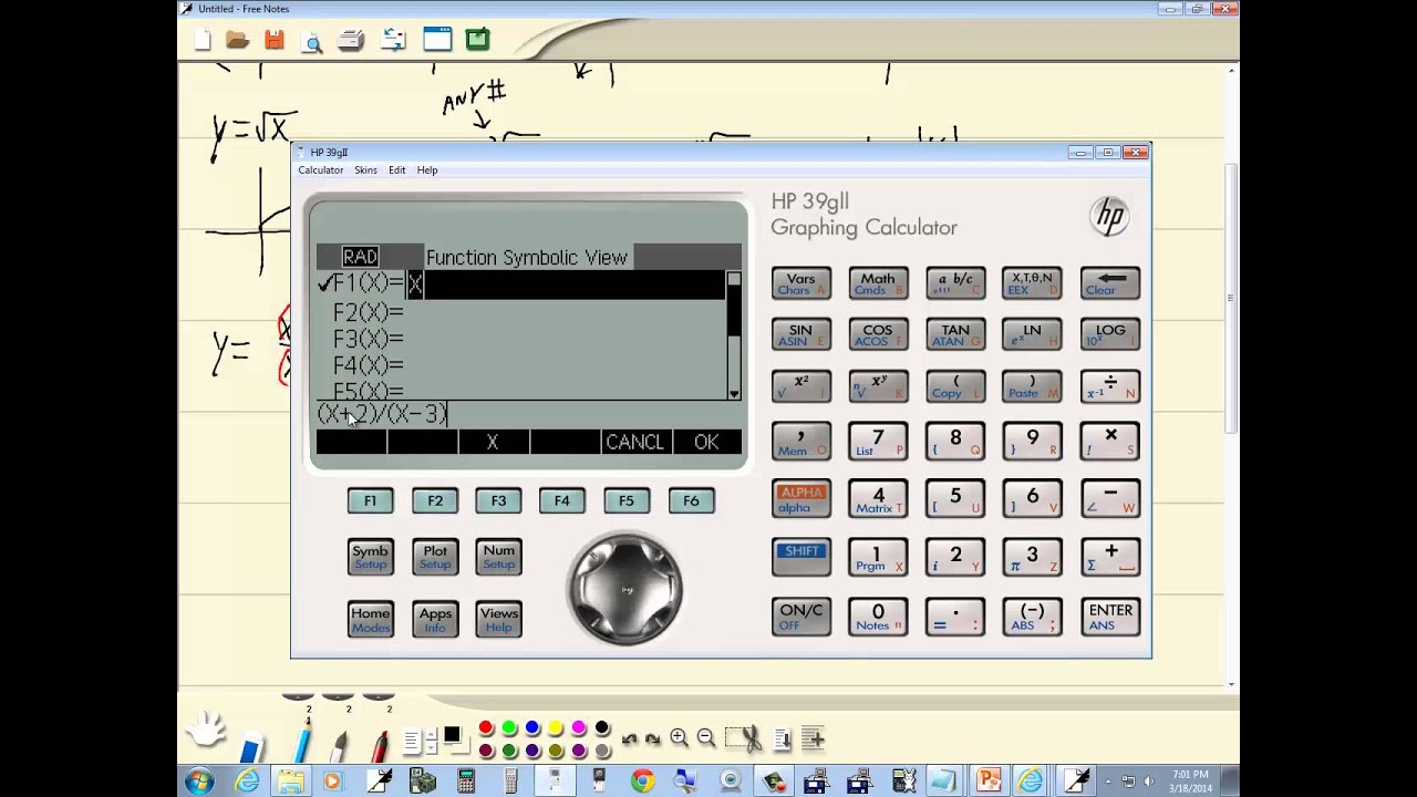 Technology In College Algebra Basic Graphing Hp 39gii Youtube 200lx Serial Port Diagram
