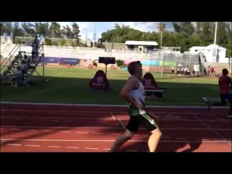 Bermuda Win Male & Female 200m Island Games July 18 2013