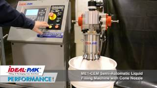 Ideal-Pak ME1-CEM, Semi-Automatic, Electronic Net Weight Filling Machine