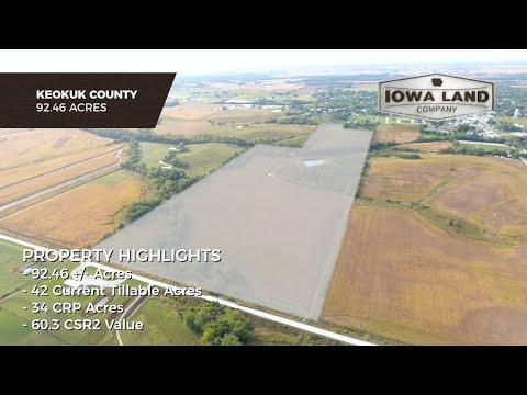 Keokuk County, Iowa 92.46 +/- Acres Investment, Income, & Recreation