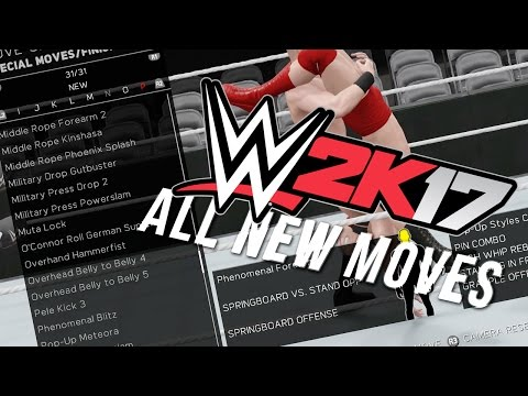 WWE 2K17 ALL NEW MOVES!! POP UP STYLES CLASH & MORE!