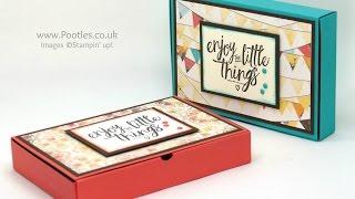 No Glue Foldable Box using Stampin' Up! Supplies