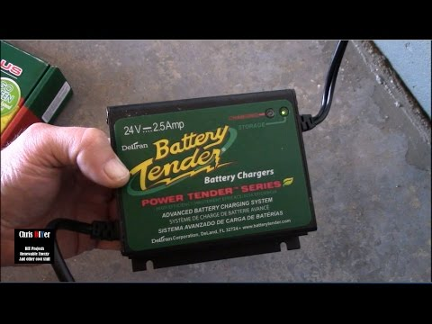 "How to maintain your battery bank - Deltran 24-volt ""Battery Tender"" charger/maintainer"
