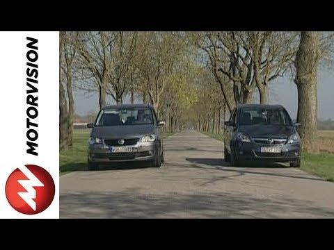 Opel Zafira Vs Vw Touran Youtube