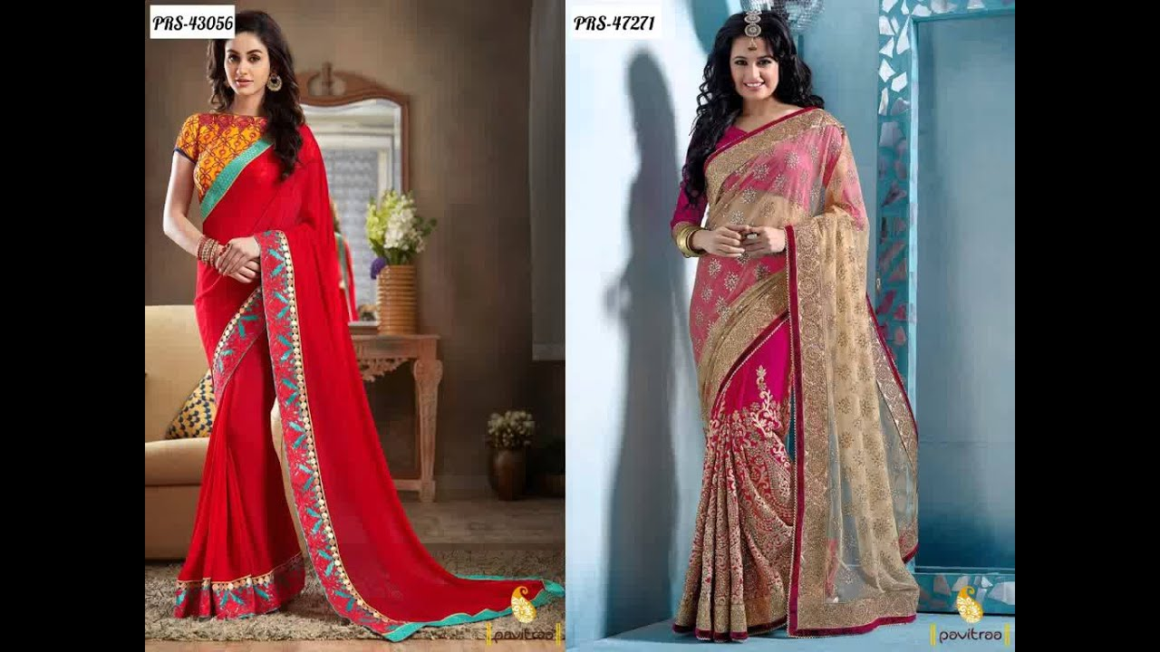 Top Wedding Sarees and Salwar Suits 2016 Online Shopping For ...