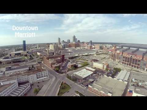 Downtown Indianapolis & Mass Ave - Drone View