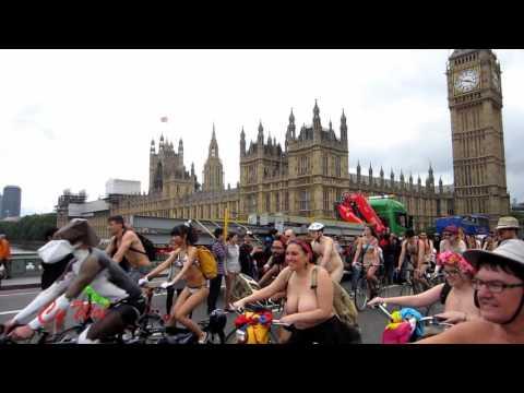 World Naked Bike Ride London (WNBR) - Highlights