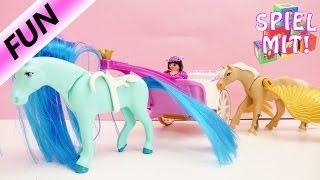 playmobil story knigin mila sucht ersatz fr ihren erkrankten pegasus   fee mit mystischem pferd