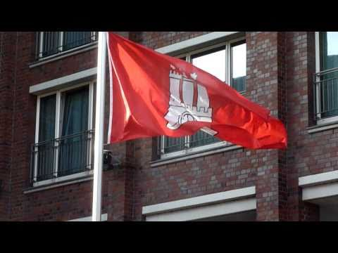 Hamburg-Fahne im Wind