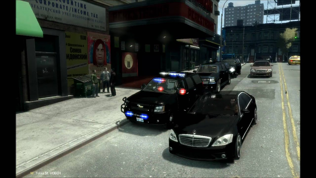 HD: GTA 4 US Secret Service & Norwegian Police Cars.