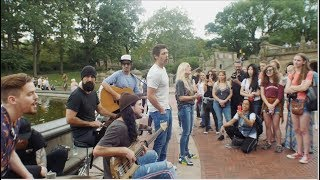 Surprise Acoustic Performance in NYC! (Walk off the Earth)
