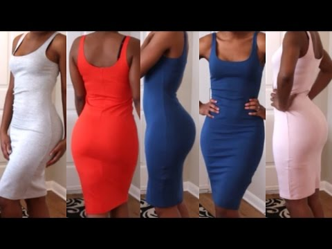 Forever 21 Bodycon Midi Dress Haul