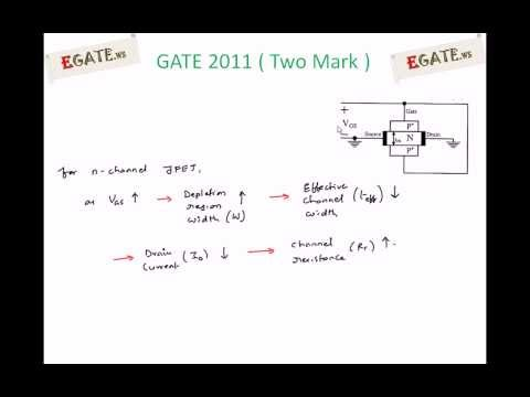 Problem on Channel Resistance of JFET - GATE 2011 Solved paper (Electron Devices) - 1