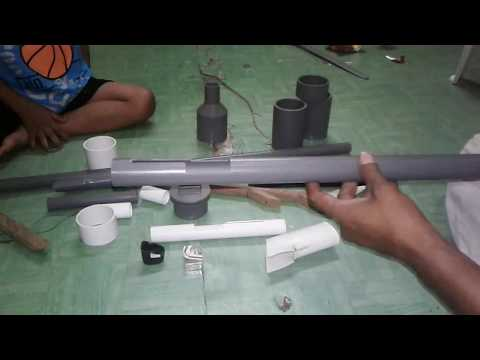 This is creative. Make an AFC rifle from paralon/pvc