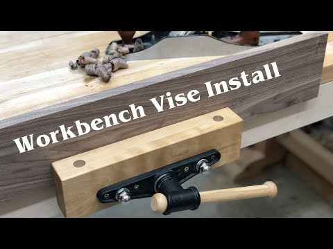 Installing a WorkBench Vise // How To - Woodworking